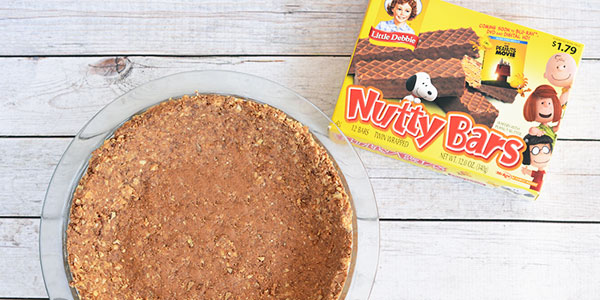 No Bake Peanut Butter Nutty Buddy Bar Pie Recipe