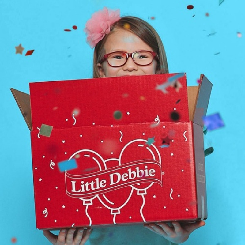 Girl Holding Birthday Box