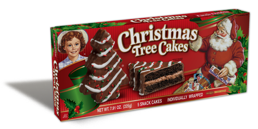 Christmas Tree Snack Cakes Chocolate