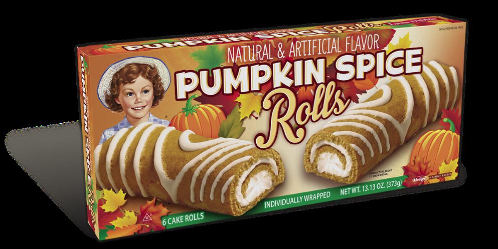 Pumpkin Spice Rolls Little Debbie