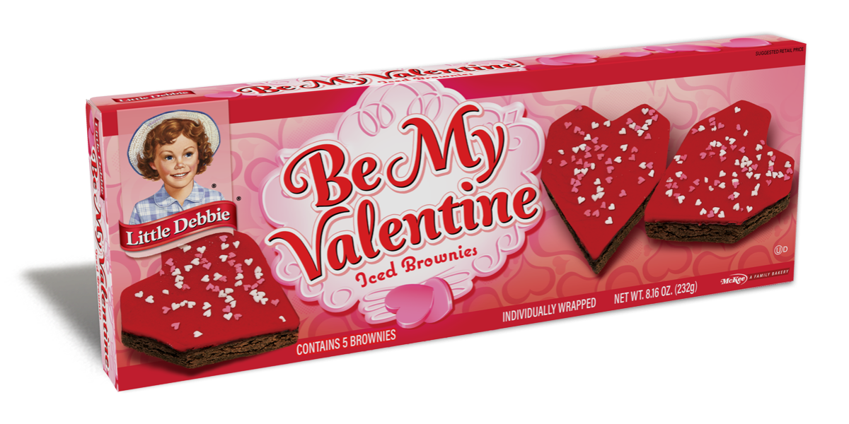 Be My Valentine Iced Brownies