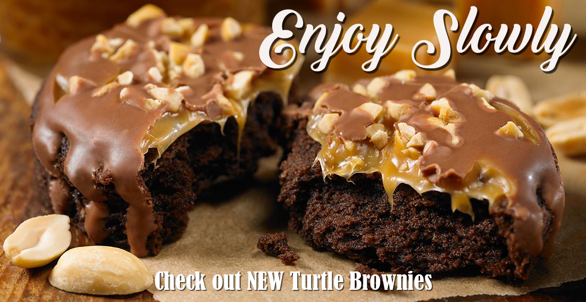 Free Cake Friday Double Chocolate Mini Donuts Turtle Brownies 1
