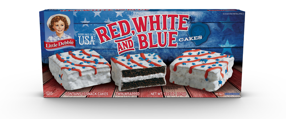 Red, White & Blue Cakes (Choc.)