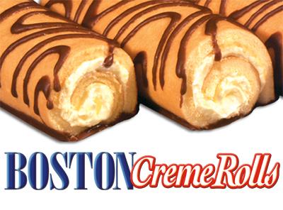 Boston Creme Rolls Little Debbie