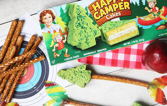 Little Debbie's Happy Camper Cakes are so versatile and the perfect shape to recreate a popular camping/summer camp activity!